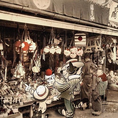 米奇这次跑到江户时代的日本了!穿越古今的迪士尼动画师作品