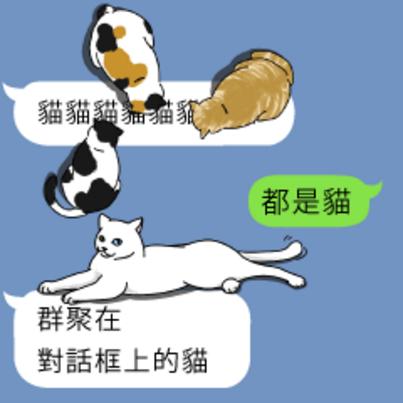 「群聚在对话框上的猫」中文化!就是要体验盖住对话的感觉喵~