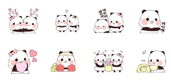 爱意满到漫出来了~《Yururin Panda动态贴图2》用爱心帮你打气加油