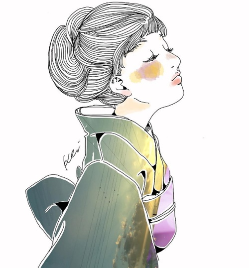 「青空」是最适合制服的颜色!将风景入化的迷幻插画