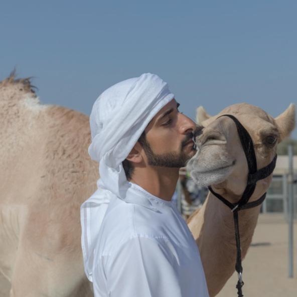 世界上最多金的杜拜王子哈曼丹 連早晨咖啡配的景致都這樣魔幻