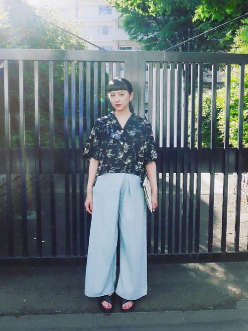 夏威夷衬衫现在其实大、人、气!日本女孩的3种时尚搭法时尚感大爆棚