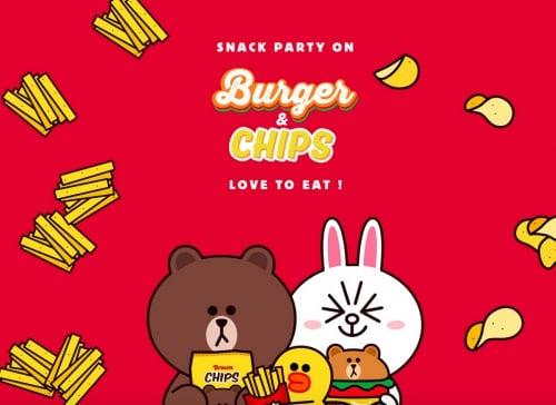 熊大变成汉堡啦!LINE FRIENDS全新推出「零食系列」