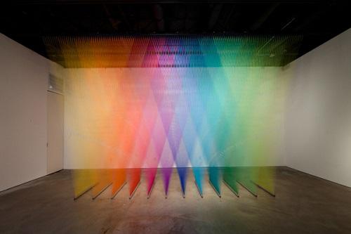 谁说梦想的蓝图只能用画的?编织彩虹的艺术家Gabriel Dawe