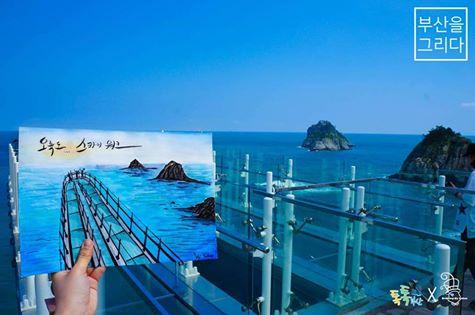 将「小王子」也收进画笔中!韩妞超梦幻手绘将釜山美景串起啦