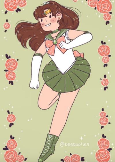 变身前可以先吃个甜甜圈吗?疗癒款肉肉系美少女战士太可爱!