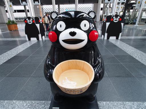 萌熊军团强势佔领大阪车站!熊本熊期间限定活动