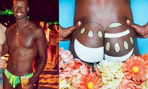 怎么把复活节彩蛋画到屁股蛋上了?脸红心跳的人体彩绘屁股蛋