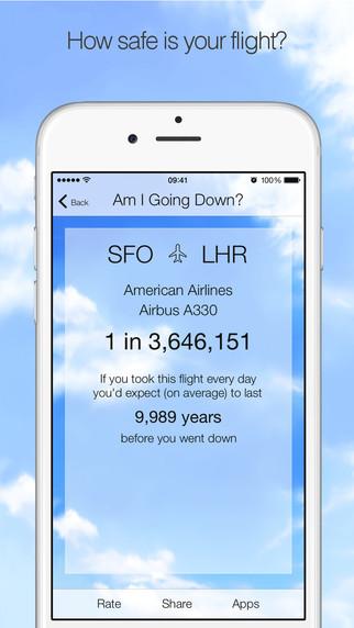 拯救搭机恐惧症的救星!《我要坠机了吗?》App算出机率让你免惊惊