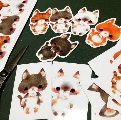 彷彿森林中的小动物住进心里!让人一看到心灵马上被疗癒的日本插画