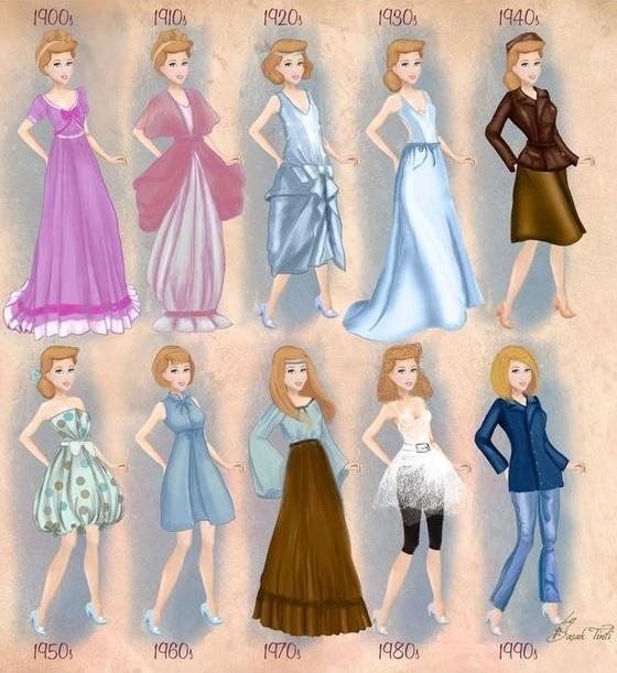 爱莎好适合复古短髮!无论哪个年代都超美的迪士尼公主时尚特辑