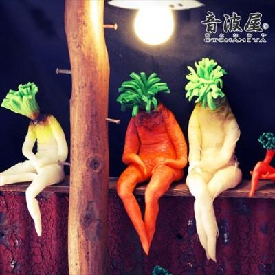 活像个心事重重的欧吉桑!日本搞笑萝蔔造型摆饰内心戏超多