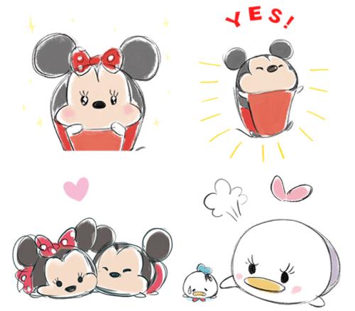 插画风TSUM TSUM就是惹人爱!迪士尼慵懒动态贴图疗癒上架
