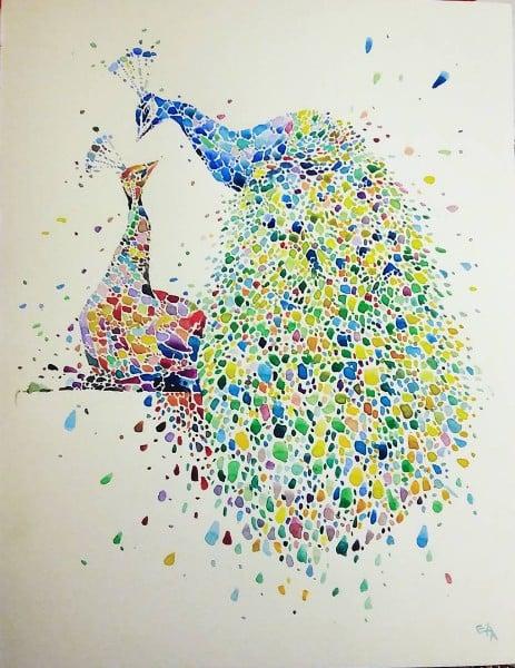 这些画超级「点点点」!简单却複杂的动物点画