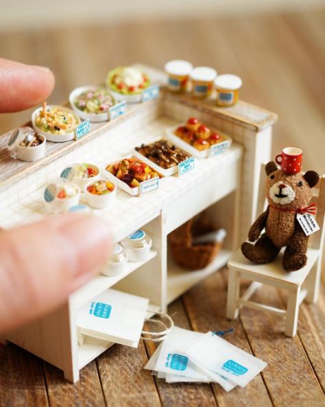 根本是迷你版的梦幻咖啡厅!日本女孩的微型小物世界