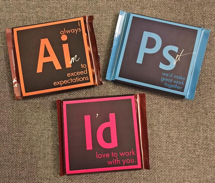 用這招吸引客戶真的很厲害!把Adobe巧克力當名片的創意自我行銷術