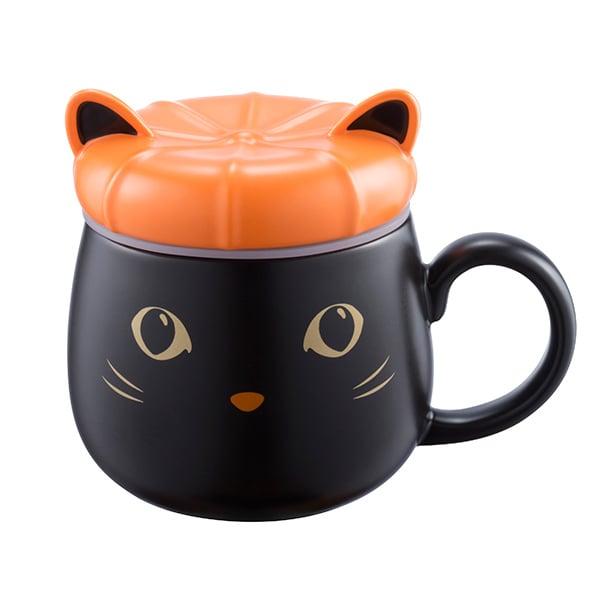猫咪×南瓜杀弤䊛double!台湾星巴克推萌萌黑喵杯款、盘组猫奴疯抢