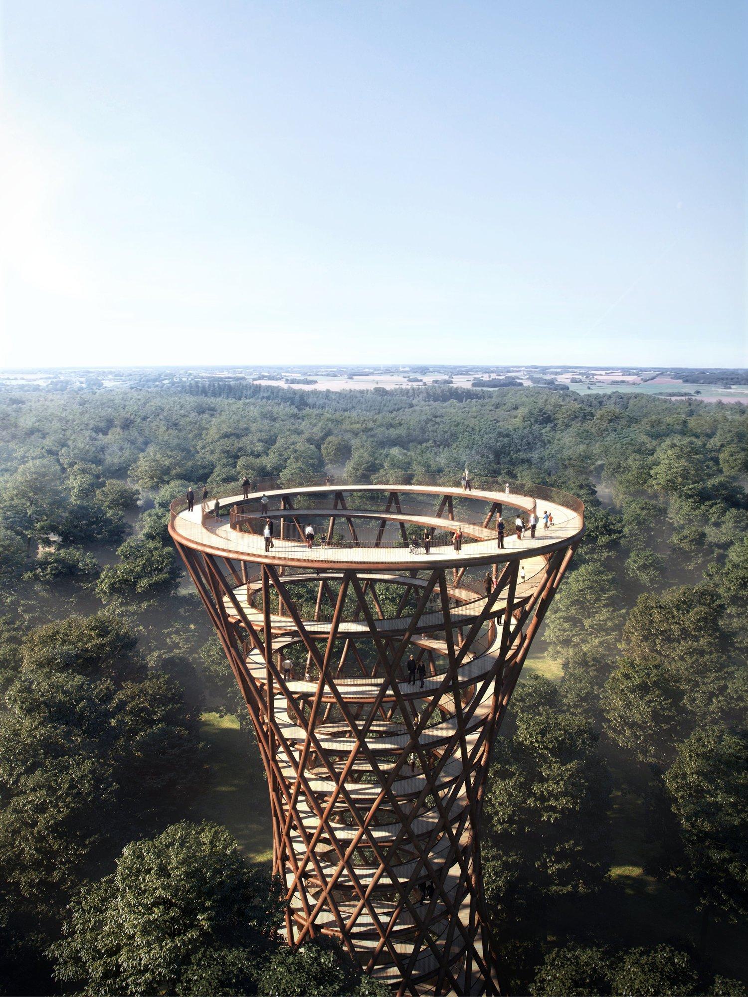 螺旋式森林步道将于丹麦登场!世界上的特殊建筑物再添一例啦~