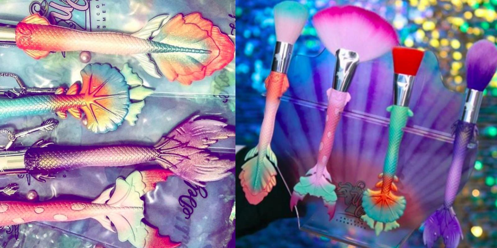 """使用一点点就能增加仙气!这些美人鱼色系""""彩妆、刷具 """"太美让人想收藏"""