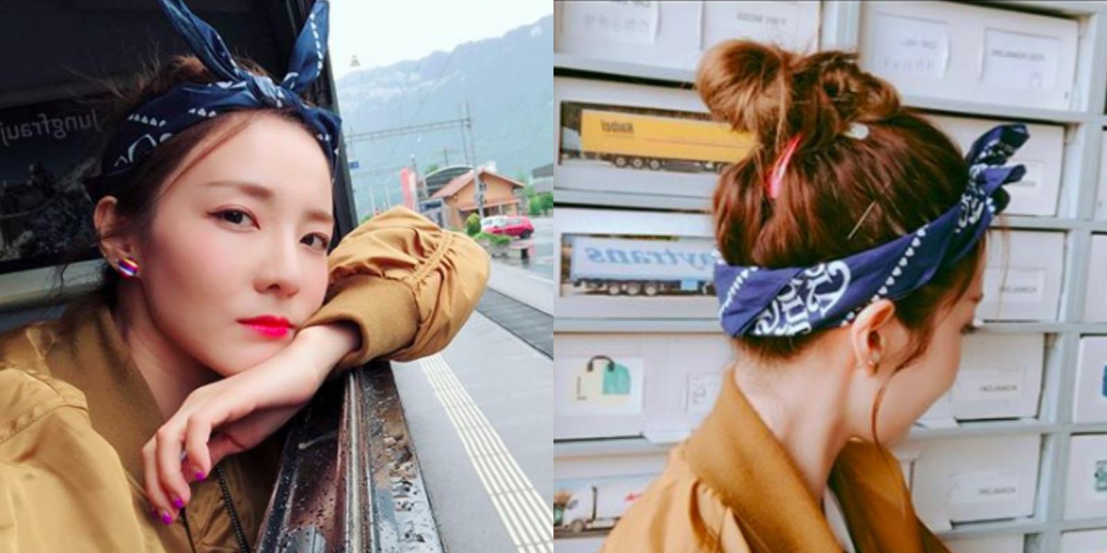 """懒得洗头的造型也可以很时髦!韩星""""遮油头 """"造型学起来!"""