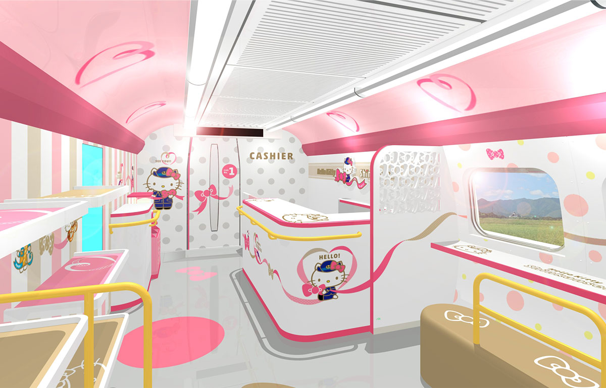 Kitty控一定要坐2号车厢!「Hello Kitty新干线」一天只有一班