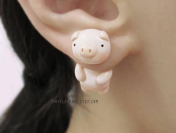 想要被河马咬耳朵吗?挂在耳垂装可爱的超疗癒动物耳环