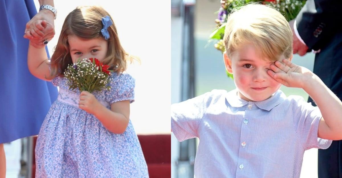 最萌兩歲外交官!揮手、微笑、聞鮮花樣樣來的夏綠蒂公主特輯 | 名人娛樂