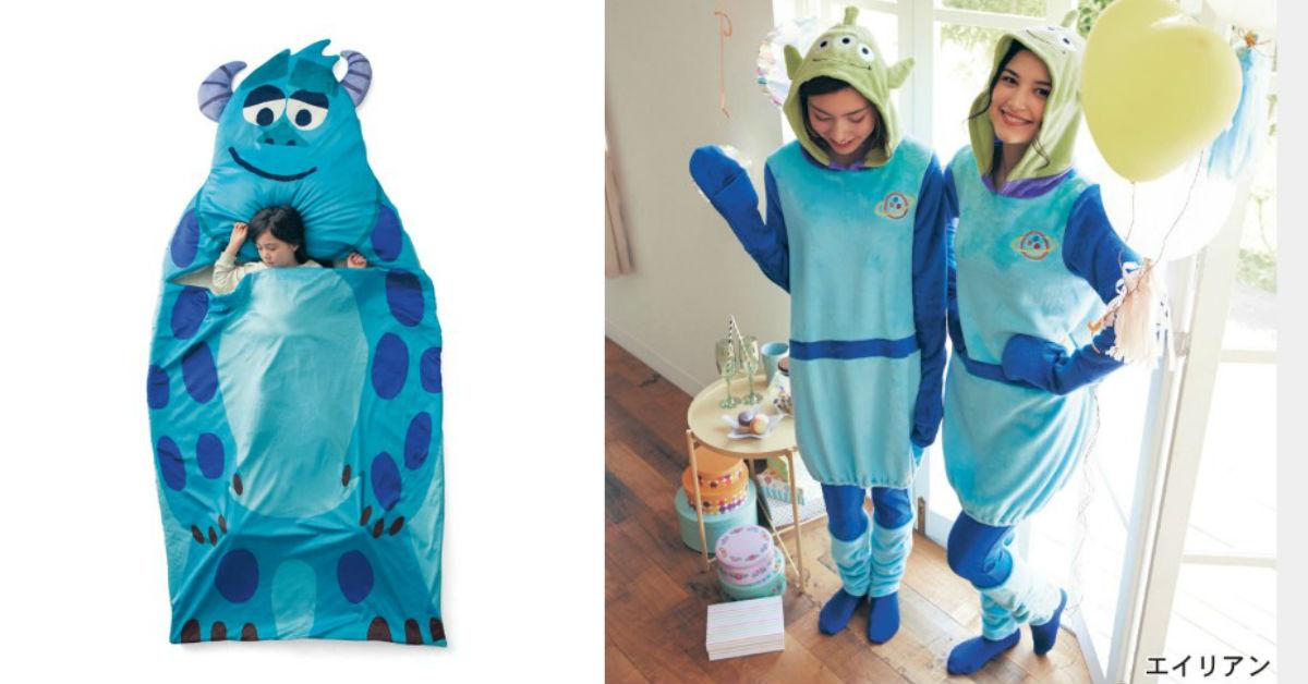 毛怪睡袋也太可爱了!今年万圣节就交给皮克斯&迪士尼角色睡衣惹