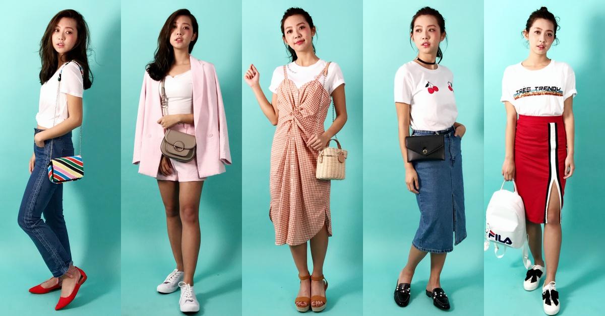白T根本史上最好搭!五款「白T-Shirt」穿搭,包了时髦、甜美、还能顺便显高瘦!