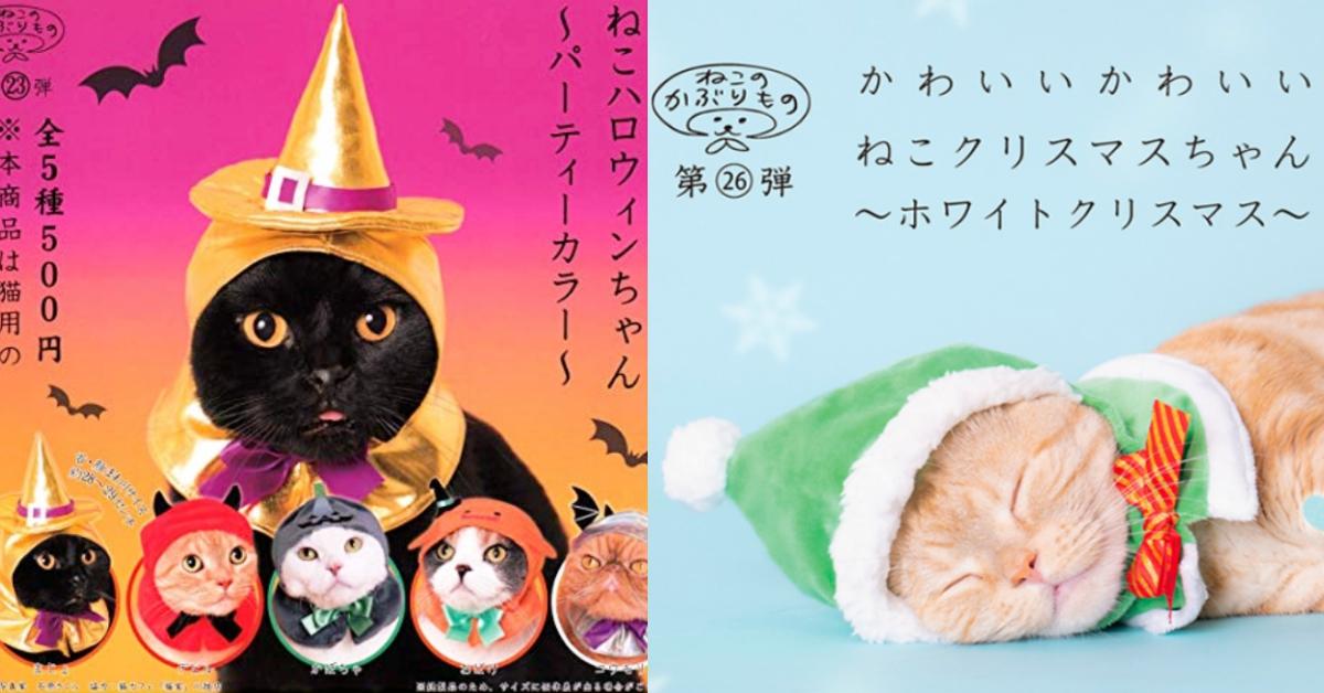 带上主子出门trick or treat吧!「万圣节vs圣诞节」猫咪主题头套超卡哇伊登场♡