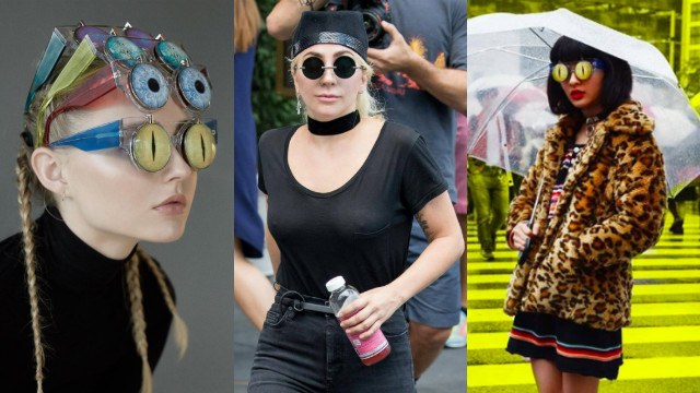学Lady Gaga戴上不甘于平凡的自信!帅到让你爹娘认不得的「怪奇墨镜」