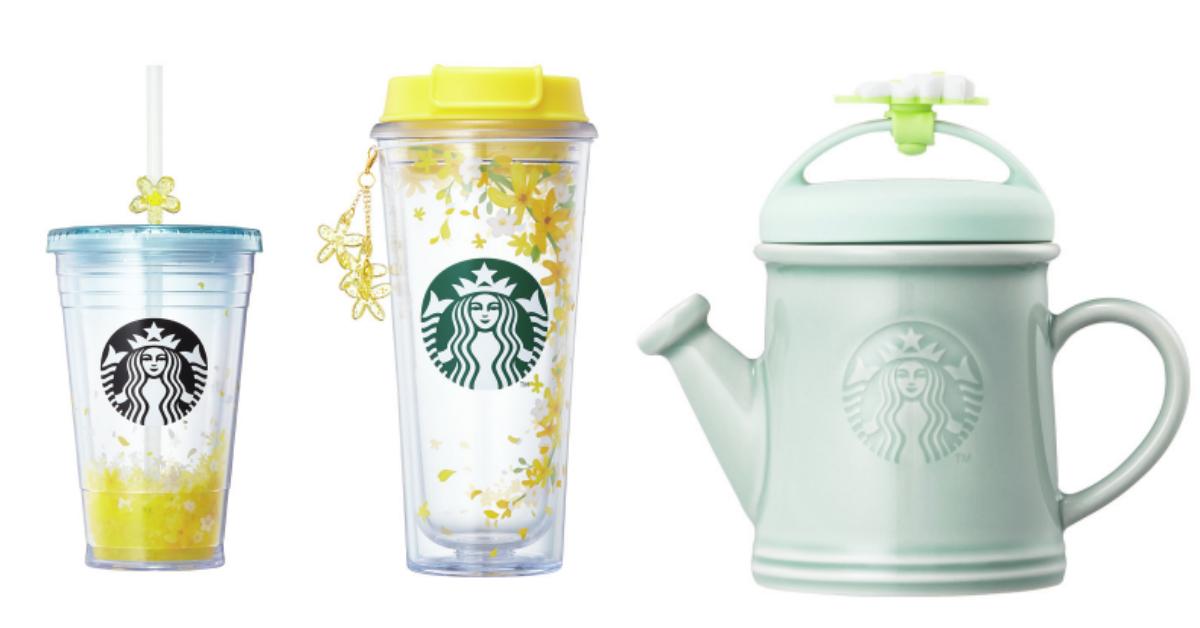 浇水茶壶杯必买!韩国星巴克迎「春日」20几款花朵新品